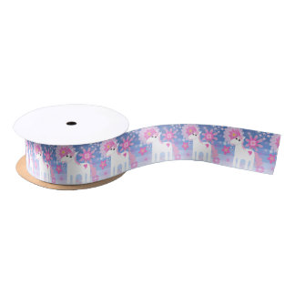 Pretty Pink Unicorn Ribbon Satin Ribbon
