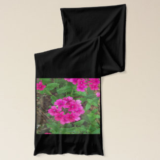 Pretty pink verbena flowers floral photo scarf
