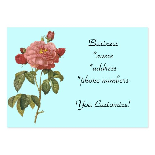 *Pretty Pink Vintage Flower* Business Cards