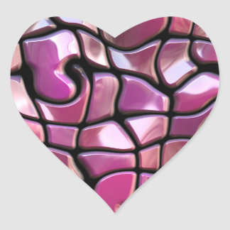 Pretty Pink Warped Mosaic Tiles Stickers