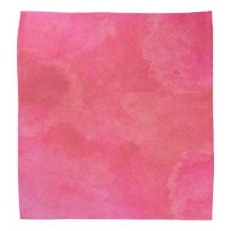 Pretty Pink Watercolor Texture Head Kerchiefs