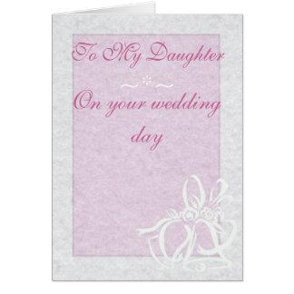Pretty Pink Wedding Card