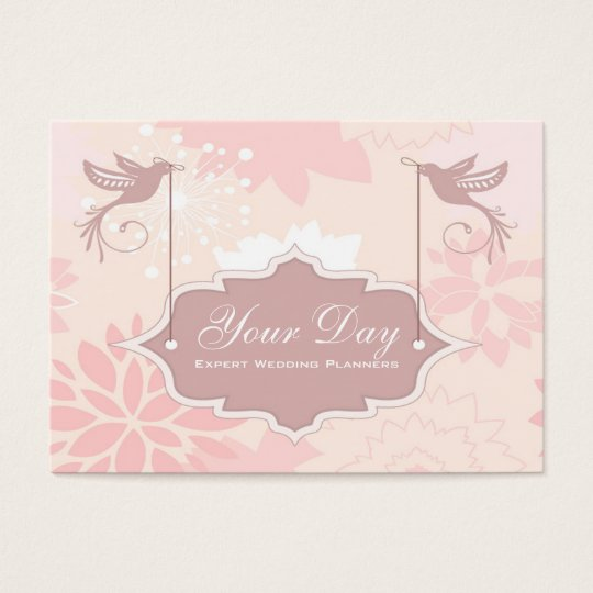 Pretty Pink Wedding Planner business cards