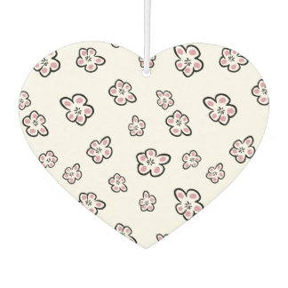 Pretty Pink & White Blossom Heart Shaped Design