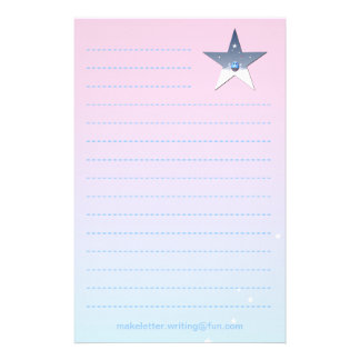 Pretty Pink Writing Paper for Children