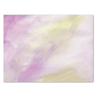 Pretty Pink Yellow Watercolor Tissue Paper