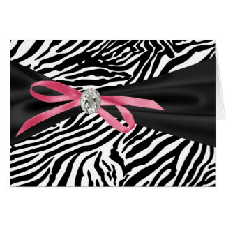 Pretty Pink Zebra Thank You Cards