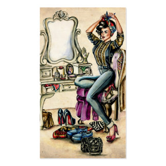 Pretty PinUp Beauty Pack Of Standard Business Cards