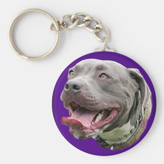 Pretty Pit in Purple Basic Round Button Key Ring