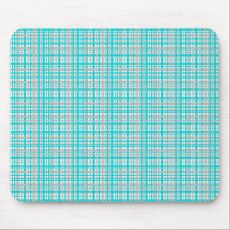Pretty plaid pattern mouse pad