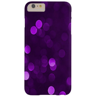 Pretty Plum Purple Bokeh Blurry Sparkly Lights Barely There iPhone 6 Plus Case