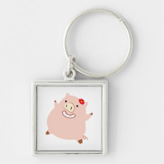 Pretty Plump Piggy Keychains