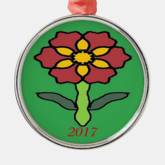 Pretty Poinsettia Christmas Ornament