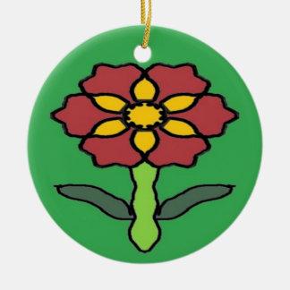 Pretty Poinsettia Christmas Ornament