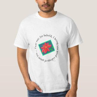 Pretty Poinsettia Christmas T-shirt