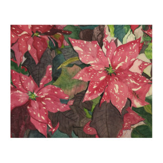 Pretty Poinsettia Wood Prints