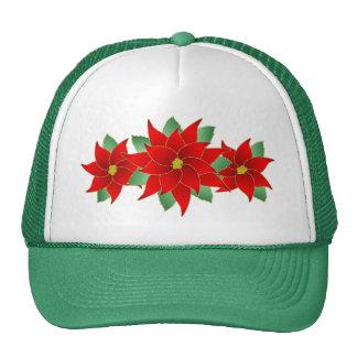 Pretty Pointsettias Mesh Hat