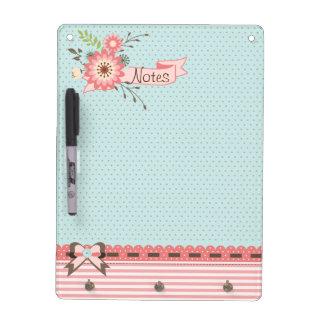 Pretty Polka Dots and Stripes Dry Erase Board