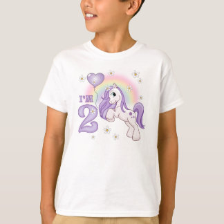 Pretty Pony 2nd Birthday T-Shirt