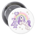 Pretty Pony 4th Birthday Button