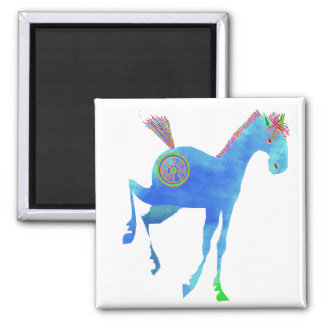 Pretty Pony in Blue Gifts & Greetings Magnet