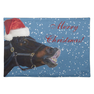 Pretty Pony Merry Christmas Placemats