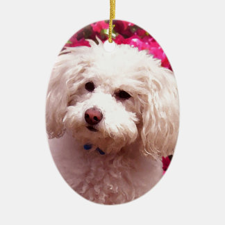Pretty Poodle Christmas Ornament