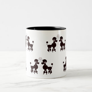 Pretty Poodles Two-Tone Coffee Mug
