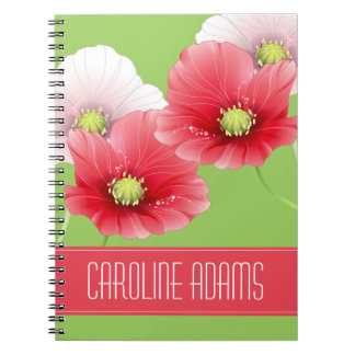 Pretty Poppies Floral Monogram Note Books