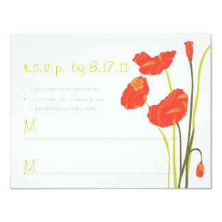 Pretty Poppies RSVP Card