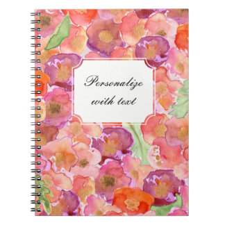 Pretty Poppies Watercolor Notebook