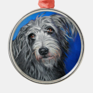 'Pretty Poppy' - Lurcher girl Christmas Ornament