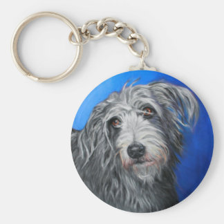 'Pretty Poppy' - Lurcher girl Key Ring