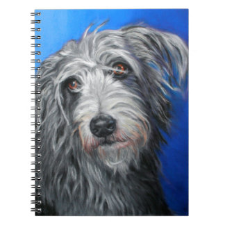'Pretty Poppy' - Lurcher girl Notebook