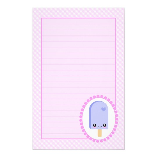 Pretty Popsicles Blueberry Fruit Kawaii Stationery