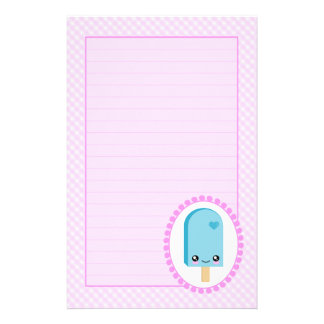 Pretty Popsicles Raspberry Fruit Kawaii Stationery
