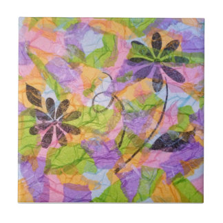 Pretty Posies Collage Tile