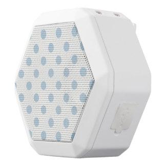 pretty,powder blue,polka dot,white,girly,trendy, white boombot rex bluetooth speaker
