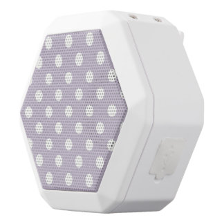 pretty,powder purple,polka dot,white,girly,trendy, white boombot rex bluetooth speaker