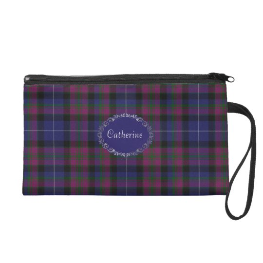 Pretty Pride of Scotland Tartan Plaid Wristlet