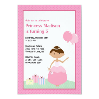 Pretty Princess Birthday Party Invitation