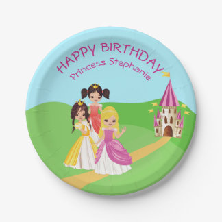Pretty Princess Girls Birthday Paper Plate