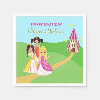 Pretty Princess Girls Birthday Party Paper Napkins Disposable Serviette