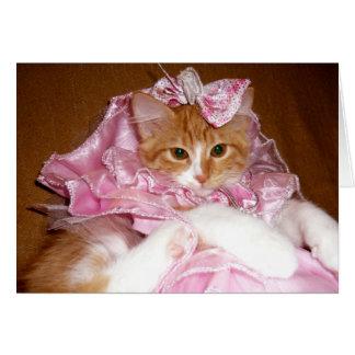 Pretty Princess Kitten - Blank Note Card