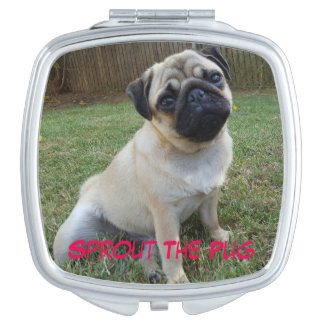 Pretty Pug Compact Mirrors For Makeup
