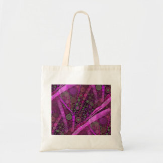 Pretty Purple Abstract Concentric Circles Mosaic Tote Bag