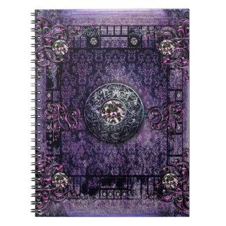 Pretty Purple Ancient Tome Medieval Magic Book