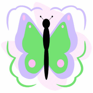 Pretty Purple And Green Butterfly Ornament Photo Sculpture Decoration