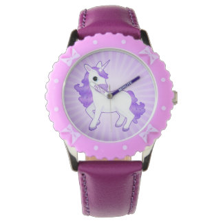 Pretty Purple and Lilac Fantasy Unicorn Wristwatch