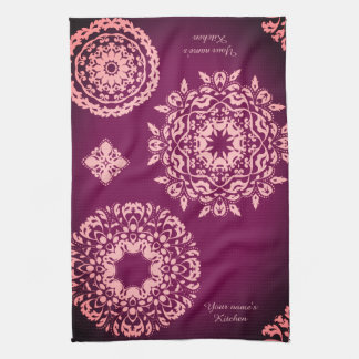 Pretty purple and pink tea towel